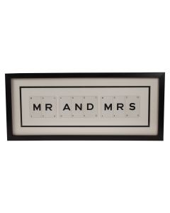 'Mr and Mrs' Vintage Playing Card Frame