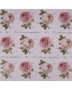 Botanical Rose Wedding Gift Wrap