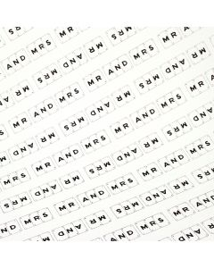 'Mr and Mrs' Wedding Gift Wrap