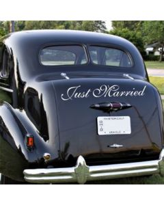 'Just Married' (Large) Car Sticker
