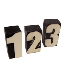 Wooden Block Numbers - 0 to 9