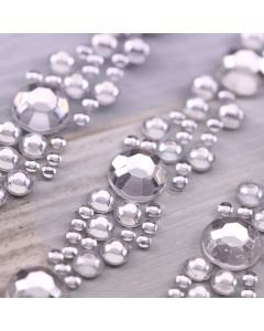 Passionato (Clear Diamante) Self Adhesive Embellishment