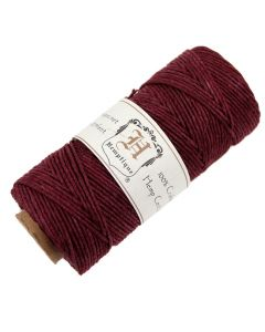 Hemptique Hemp Cord - Burgundy