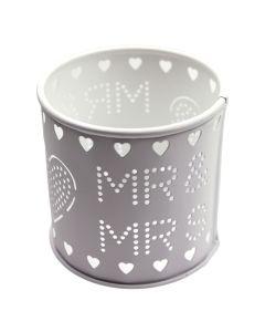 Mr and Mrs Tea Light Holder (Ivory)