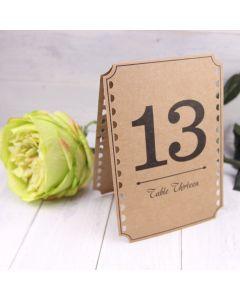 Table Numbers (1-12) - Kraft