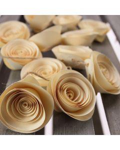 Paper Flower Garland Decoration - Cream - Rose Detail