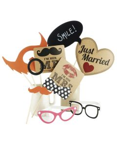 Photo Booth Props Kit (Wedding)