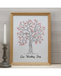 Fingerprint Guest Tree (Pink Inks)