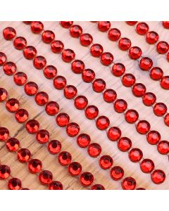 4mm Gem Self Adhesives - Red - Zoom