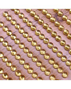 4mm Gem Self Adhesives - Gold - Zoom