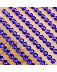 4mm Gem Self Adhesives - Sapphire Blue - Zoom