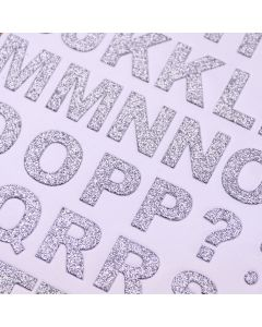 Glitter Alphabet Set Bold Silver - Zoom