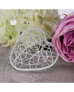 Hinged Wire Heart (White)