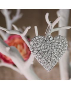 Sparkle Hearts set of 10 (Silver)