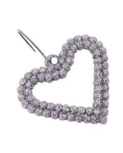 Sparkle Aperture Hearts set of 10 (Silver)