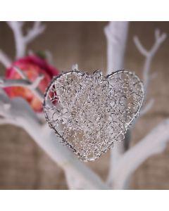Decorative Wire Hearts (Silver)