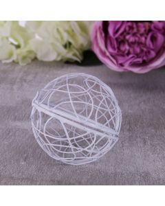 Hinged Wire Ball (White)