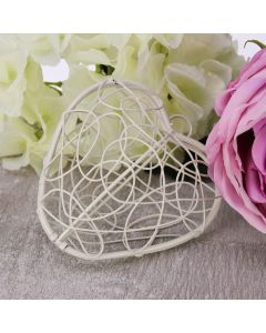 Hinged Wire Heart (Ivory)