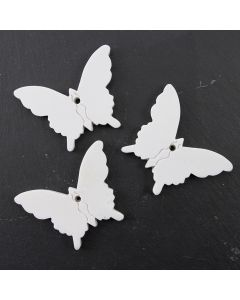Ceramic Tags (Butterflies Small) - Pack of 3
