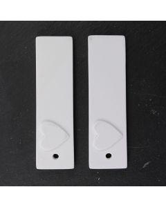 Ceramic Tags (Rectangular large) - Pack of 2