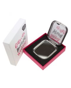 Gorgeous Beautiful Wedding Compact Mirror showing Mirror
