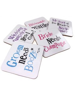 The Bright Side Wedding Coasters