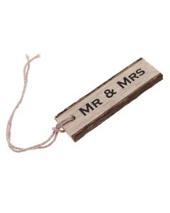 Mr and Mrs Wooden Gift Tag