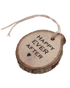 Happy Ever After Wooden Gift Tag -Tree Slices