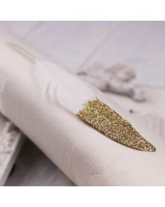 Gold Glitter Dipped Glitter Feathers