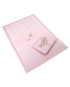 A3 Pastel Pink Guest Book Poster with Info Card