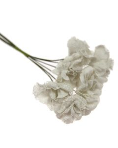 Hessian Shabby Chic Rose Flowers - Ivory