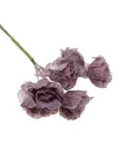 Hessian Shabby Chic Rose Flowers - Warm Taupe