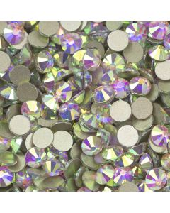 4mm Crystal AB SS16 Non Hot Fix Gems Pack of 100