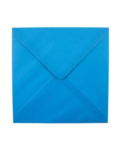 Plain Blue Lagoon Large Square 155mm Envelopes