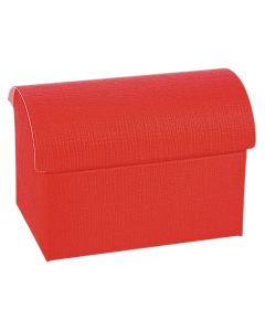 Red Silk Chest Favour Box (Pack of 10)