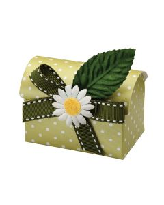 Moss Green Polka Dot Chest Favour Box (Pack of 10)