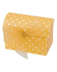 Gold Polka Dot Chest Favour Box (Pack of 10)