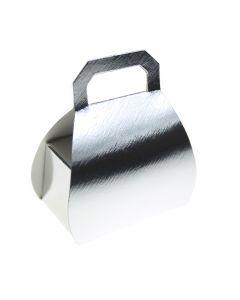 Silver Lari Handbag Favour Box (Pack of 10)