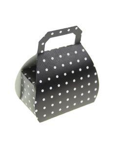 Black Polka Dot Handbag Favour Box (Pack of 10)