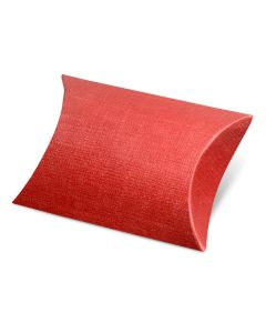 Burgundy Silk Pillow Favour Box (Pack of 10)