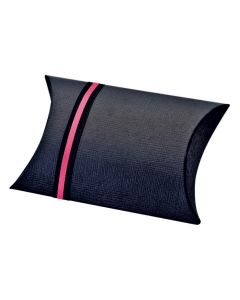 Black Silk Pillow Favour Box (Pack of 10)