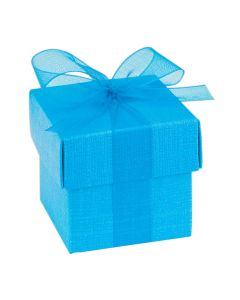 Turquoise Silk Favour Box (Pack of 10)