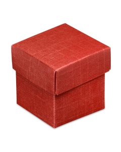 Burgundy Silk Square Favour Box (Pack of 10)