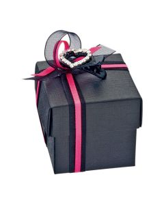 Black Silk Square Favour Box (Pack of 10)