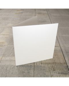 Creased Card Small Square - Pearlescent Ivory