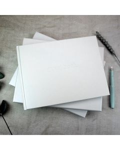 Crystal White Wedding Guest Book