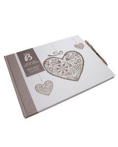 Wedding Guest Book 'Romantic' Heart