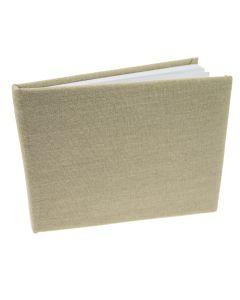 Plain Linen Guest Book