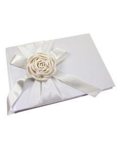 'Paper Rose' Handmade Silk Guest Book