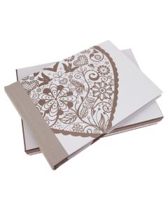 Wedding Album and Keepsake Box 'Folk' Heart